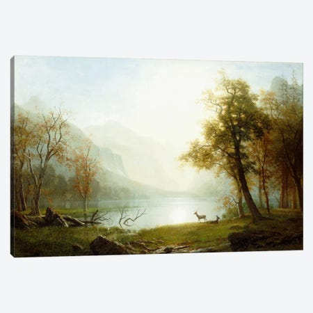 Valley in King's Canyon Canvas Print #BMN5992} by Albert Bierstadt Canvas Art Print