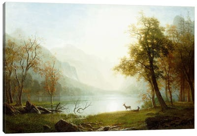 Valley in King's Canyon by Albert Bierstadt Canvas Art Print