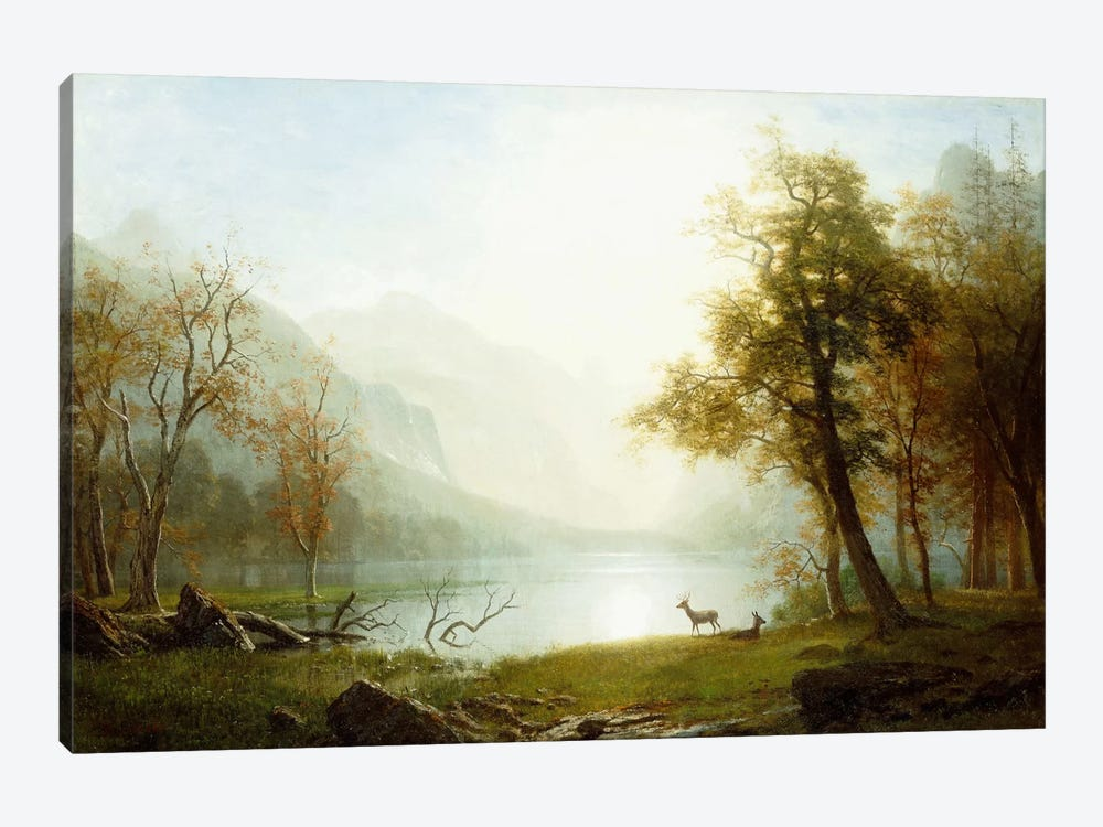 Valley in King's Canyon by Albert Bierstadt 1-piece Canvas Art