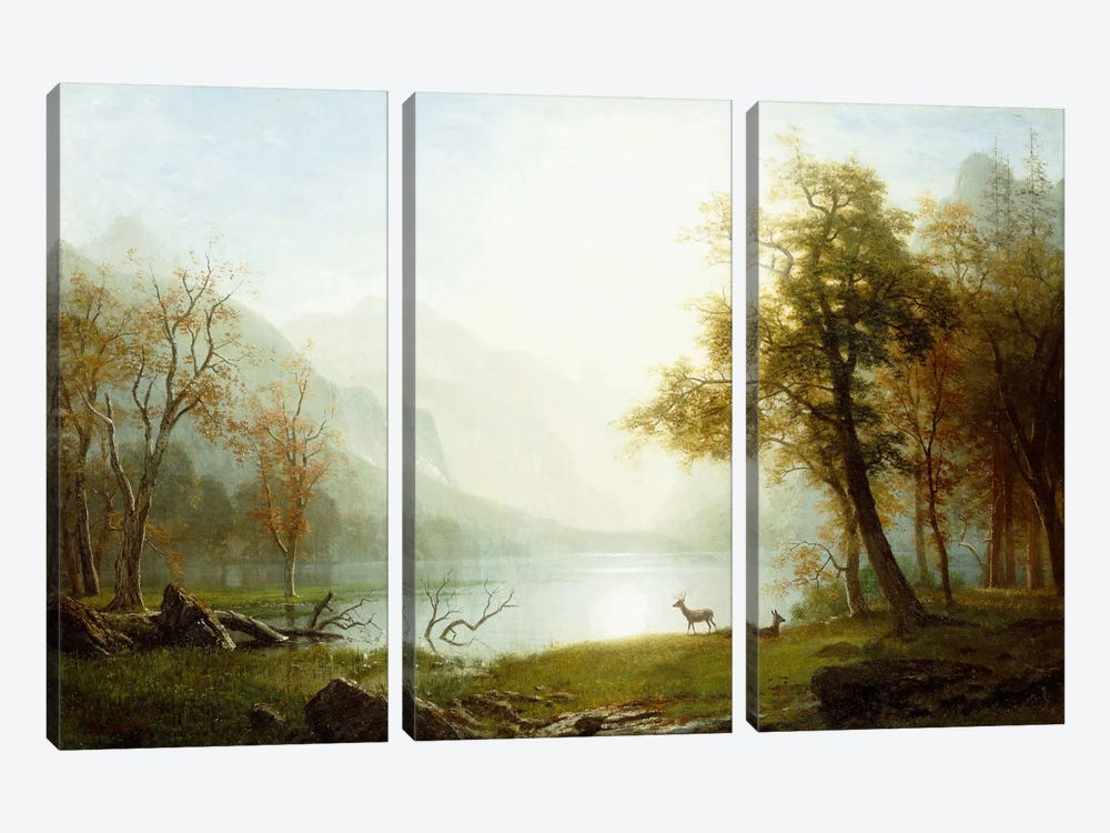 Valley in King's Canyon by Albert Bierstadt 3-piece Canvas Wall Art