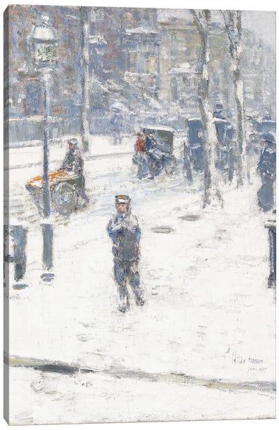 Snow Storm, Fifth Avenue, New York, 1907  Canvas Art Print