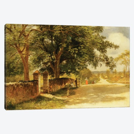 Street in Nassau, c.1878  Canvas Print #BMN5996} by Albert Bierstadt Canvas Wall Art