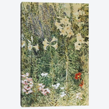 Larkspurs and Lillies, c. 1894  Canvas Print #BMN5997} by Childe Hassam Canvas Art