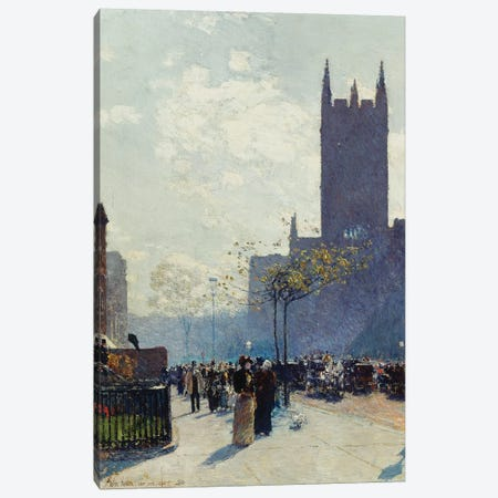 Lower Fifth Avenue, 1890  Canvas Print #BMN5998} by Childe Hassam Canvas Art Print
