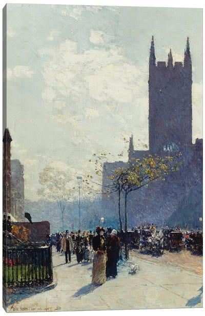 Lower Fifth Avenue, 1890  Canvas Art Print
