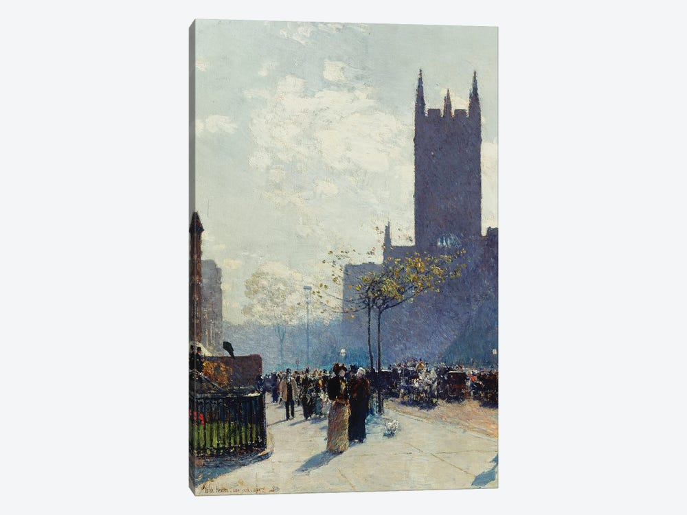 Lower Fifth Avenue, 1890  by Childe Hassam 1-piece Canvas Artwork
