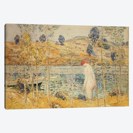 The River Bank, 1906  Canvas Print #BMN5999} by Childe Hassam Canvas Print