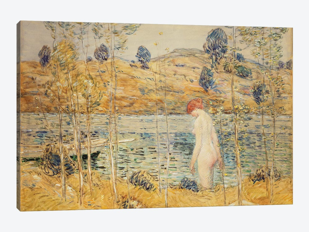 The River Bank, 1906  by Childe Hassam 1-piece Art Print