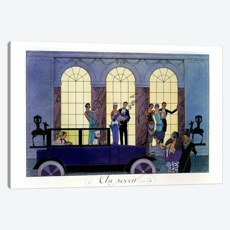 Farewell, engraved by Henri Reidel, 1920 (litho) Canvas Print #BMN5} by Georges Barbier Canvas Art