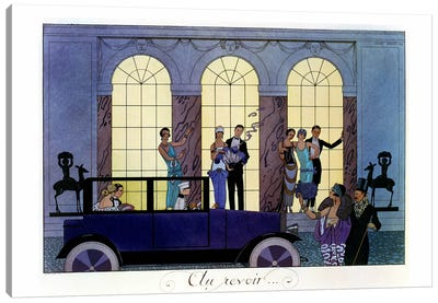 Farewell, engraved by Henri Reidel, 1920 (litho) Canvas Art Print