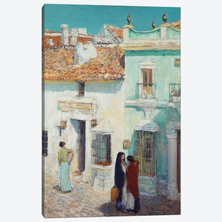 Street Scene, La Ronda, Spain, 1910  Canvas Print #BMN6000} by Childe Hassam Art Print