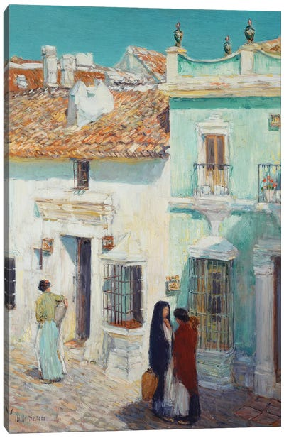 Street Scene, La Ronda, Spain, 1910  Canvas Art Print