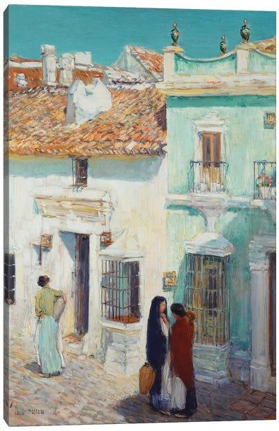 Street Scene, La Ronda, Spain, 1910  Canvas Art Print