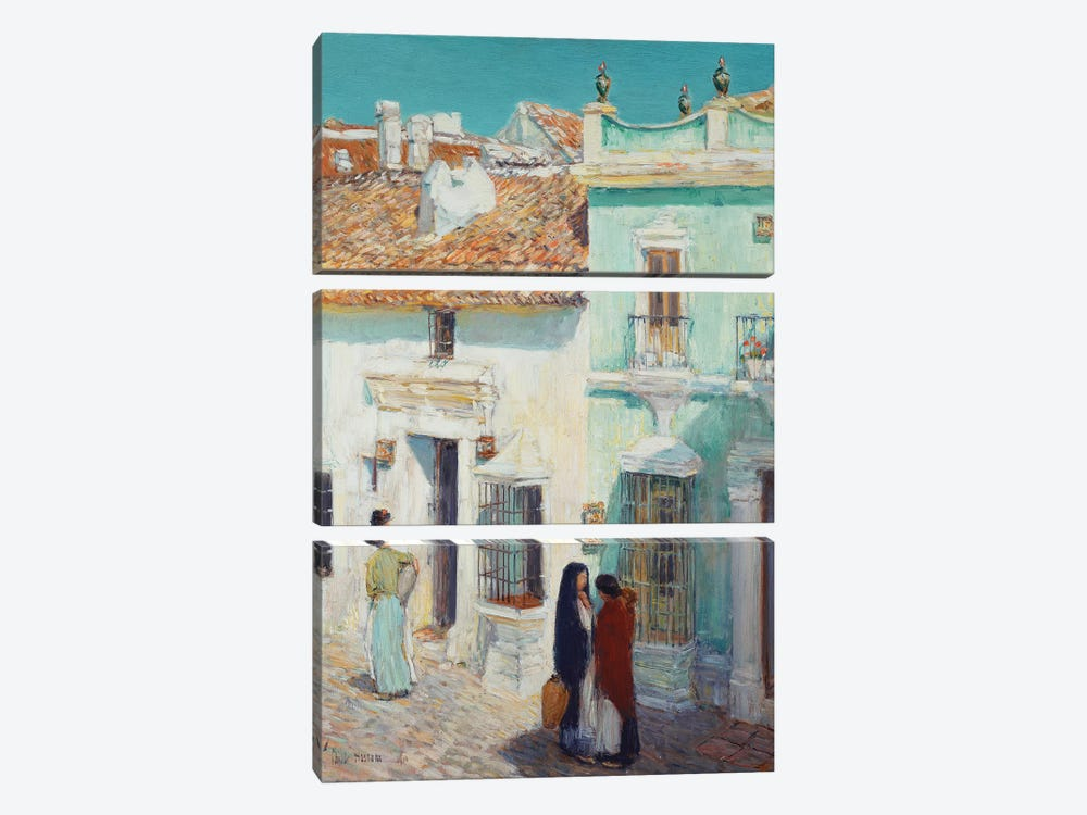 Street Scene, La Ronda, Spain, 1910  by Childe Hassam 3-piece Canvas Print