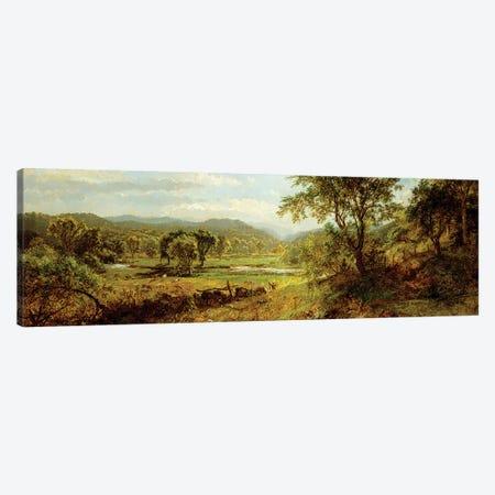 The Saw Mill River,  Canvas Print #BMN6001} by Jasper Francis Cropsey Canvas Art Print