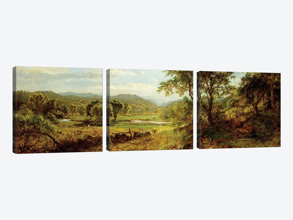 The Saw Mill River,  by Jasper Francis Cropsey 3-piece Canvas Wall Art