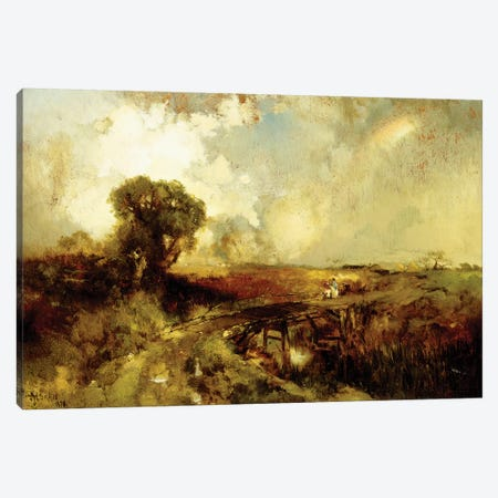 A Summer Shower, 1878  Canvas Print #BMN6002} by Thomas Moran Canvas Print