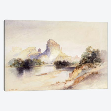 Castle Butte, Green River, Wyoming, 1894  Canvas Print #BMN6003} by Thomas Moran Art Print