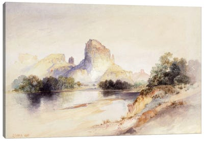 Castle Butte, Green River, Wyoming, 1894 Canvas Art Print