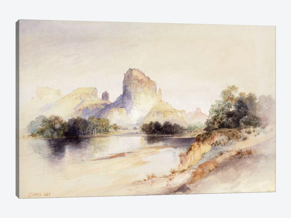 Castle Butte, Green River, Wyoming, 1894 by Thomas Moran 1-piece Canvas Art