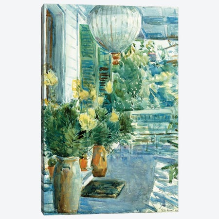 Veranda of the Old House, 1912  Canvas Print #BMN6005} by Childe Hassam Canvas Artwork