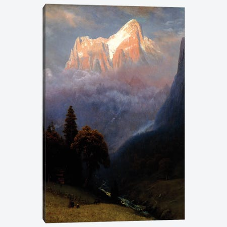 Storm Among the Alps, c.1856  Canvas Print #BMN6008} by Albert Bierstadt Canvas Art Print