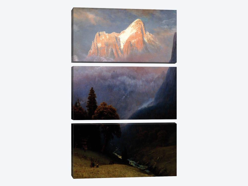 Storm Among the Alps, c.1856  by Albert Bierstadt 3-piece Canvas Art Print