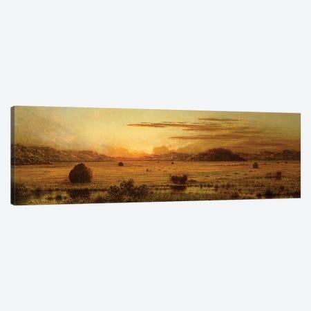 Sunrise, Hoboken Meadows, c.1875-1885  Canvas Print #BMN6009} by Martin Johnson Heade Canvas Art Print