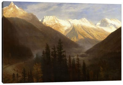 Sunrise from Glacier Station, c.1890 by Albert Bierstadt Canvas Wall Art