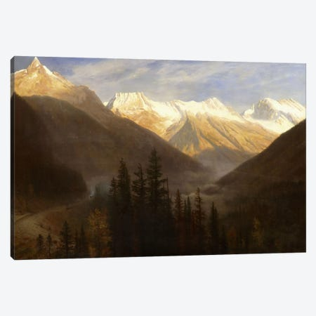 Sunrise from Glacier Station, c.1890  Canvas Print #BMN6010} by Albert Bierstadt Canvas Wall Art