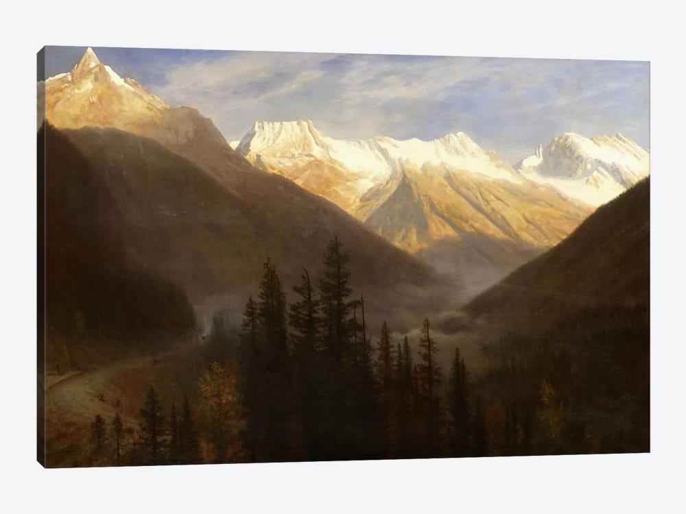 Sunrise from Glacier Station, c.1890  by Albert Bierstadt 1-piece Canvas Wall Art