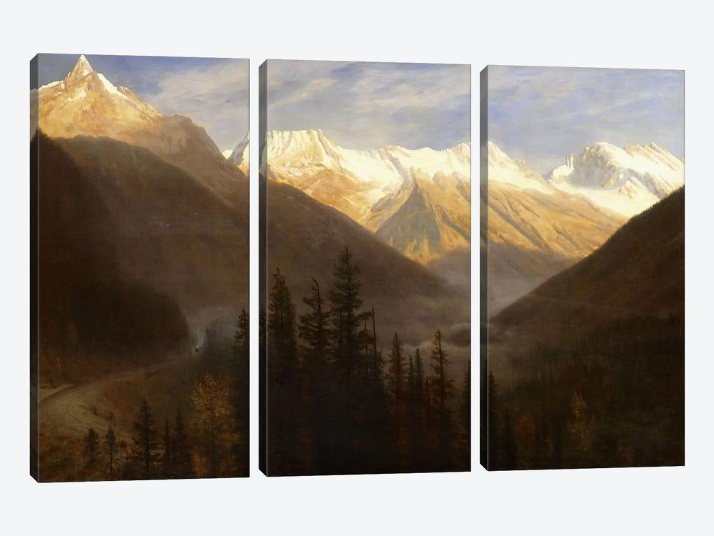 Sunrise from Glacier Station, c.1890  by Albert Bierstadt 3-piece Canvas Artwork