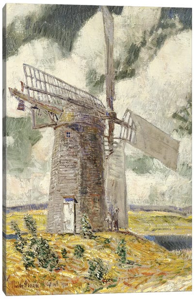 Bending Sail on the Old Mill, 1920  Canvas Art Print