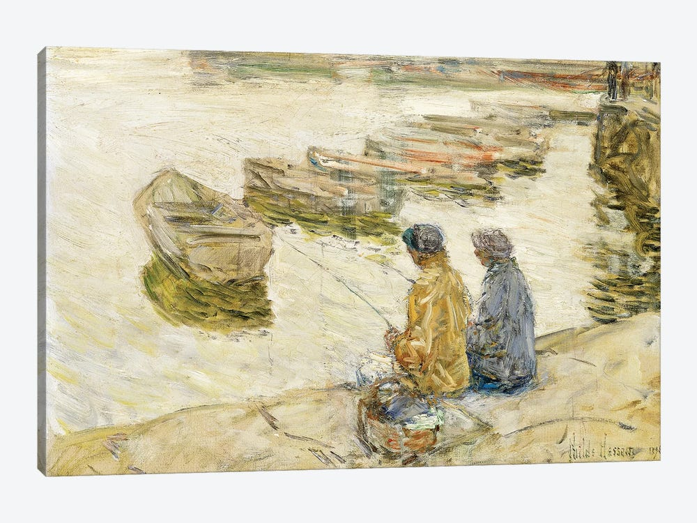 Fishing, 1896  by Childe Hassam 1-piece Canvas Artwork