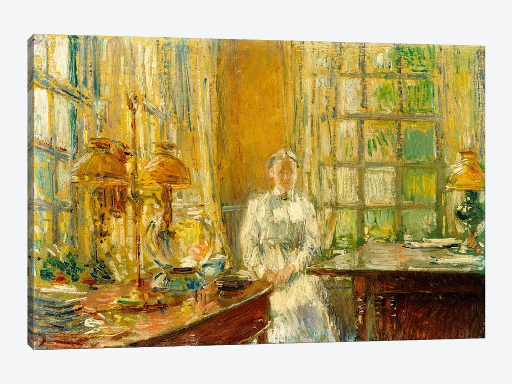 Mrs. Holley of Cos Cob, 1912  by Childe Hassam 1-piece Canvas Art Print