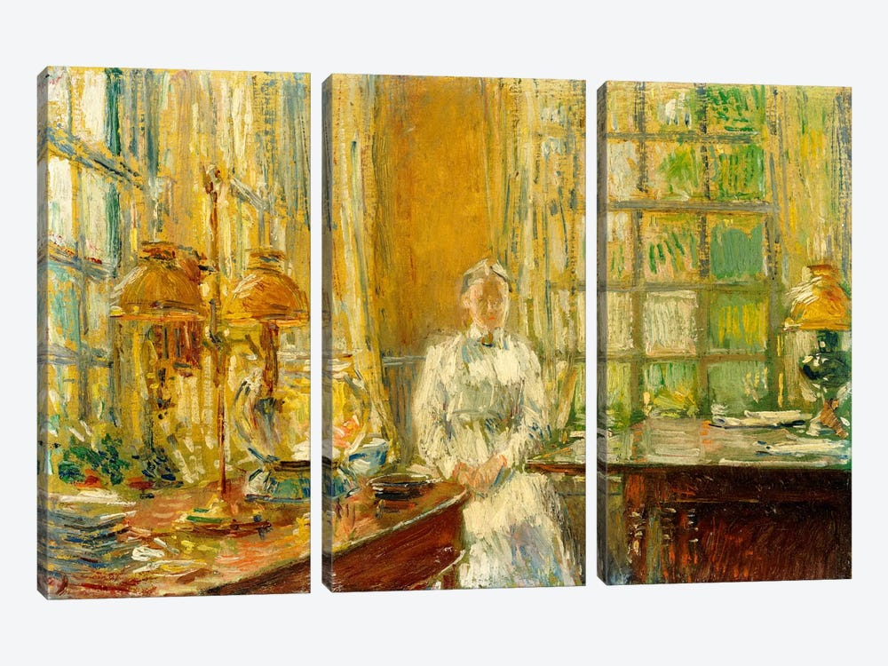 Mrs. Holley of Cos Cob, 1912  by Childe Hassam 3-piece Art Print