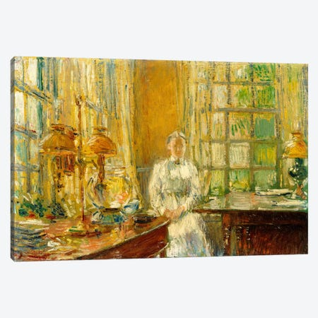 Mrs. Holley of Cos Cob, 1912  Canvas Print #BMN6015} by Childe Hassam Canvas Print
