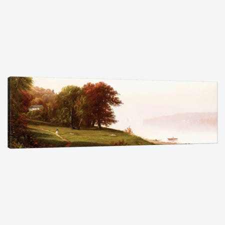 Landscape on the Hudson, c.1865  Canvas Print #BMN6017} by Alfred Thompson Bricher Art Print