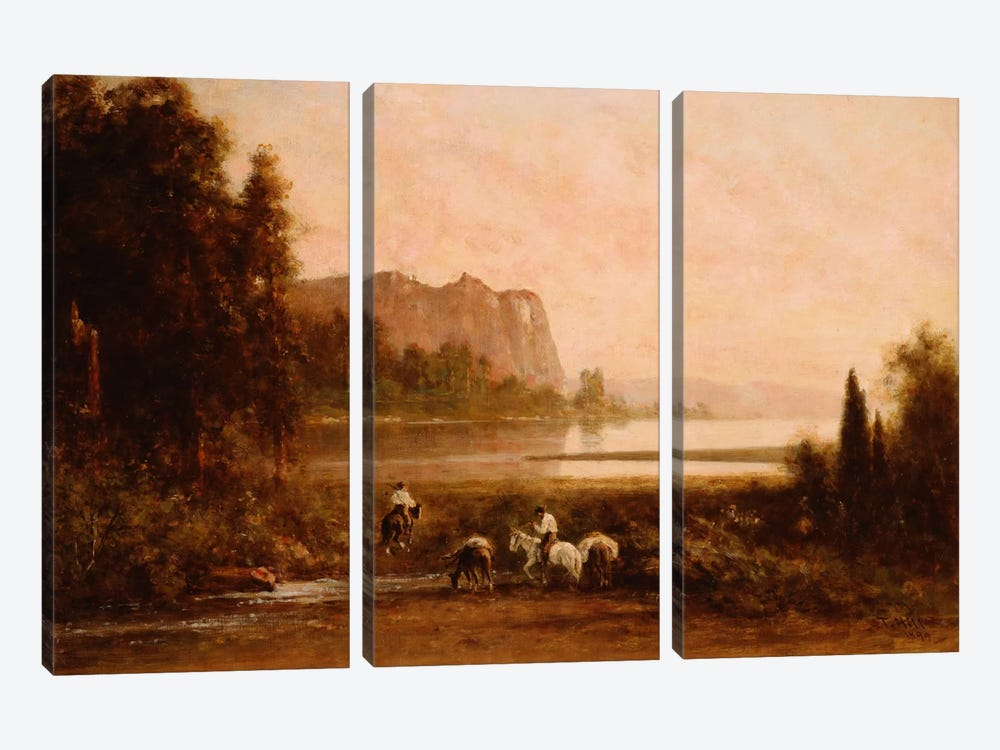 Trappers in Yosemite Mountains, 1899 by Thomas Hill 3-piece Canvas Art
