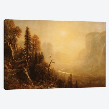 Study for Yosemite Valley, Glacier Point Trail,  Canvas Print #BMN6019} by Albert Bierstadt Canvas Art