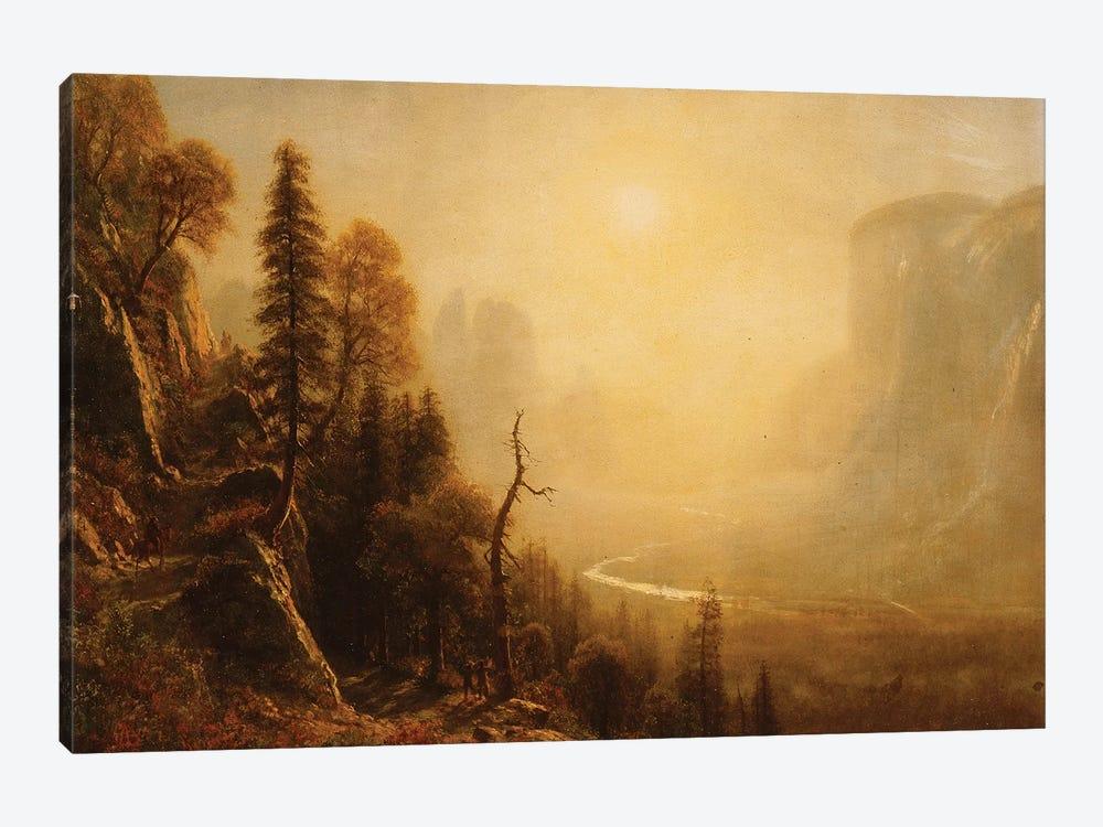 Study for Yosemite Valley, Glacier Point Trail,  by Albert Bierstadt 1-piece Canvas Art Print