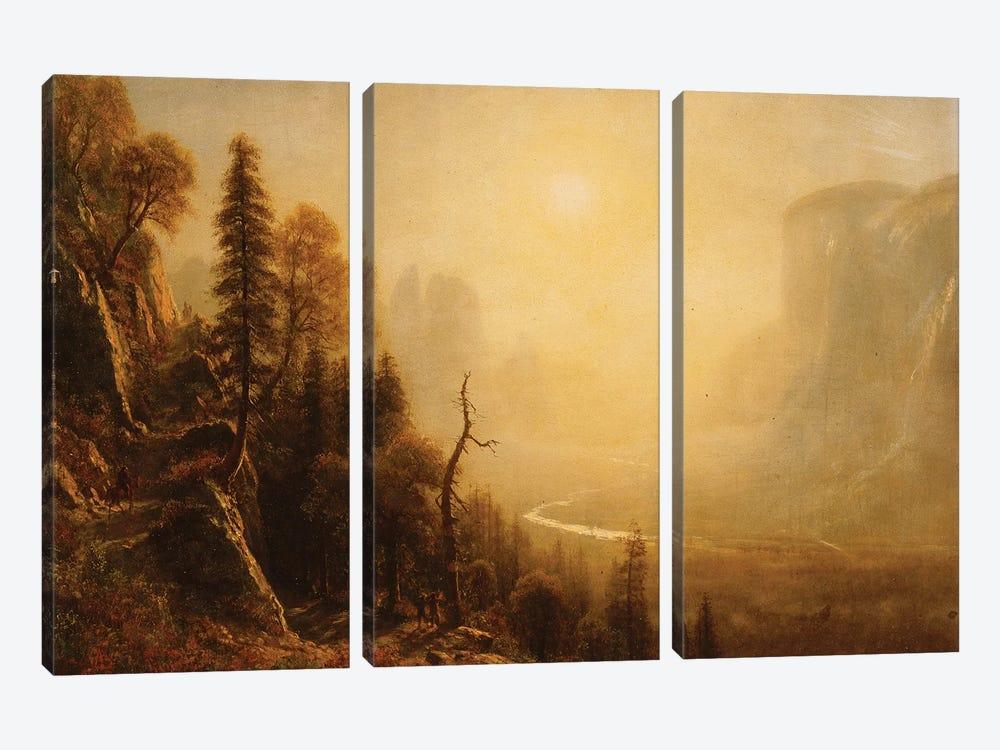 Study for Yosemite Valley, Glacier Point Trail,  by Albert Bierstadt 3-piece Art Print