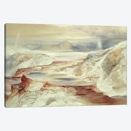 Hot Springs of Gardiner's River, Yellowstone, 1872  Canvas Print #BMN601} by Thomas Moran Canvas Artwork