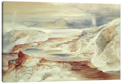 Hot Springs of Gardiner's River, Yellowstone, 1872  Canvas Art Print