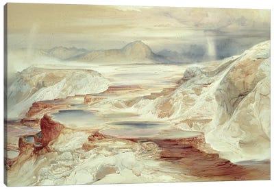 Hot Springs of Gardiner's River, Yellowstone, 1872  Canvas Art Print