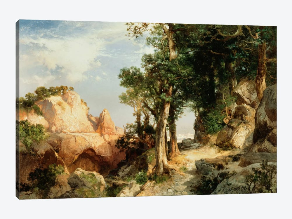 On the Berry Trail - Grand Canyon of Arizona, 1903 by Thomas Moran 1-piece Canvas Print