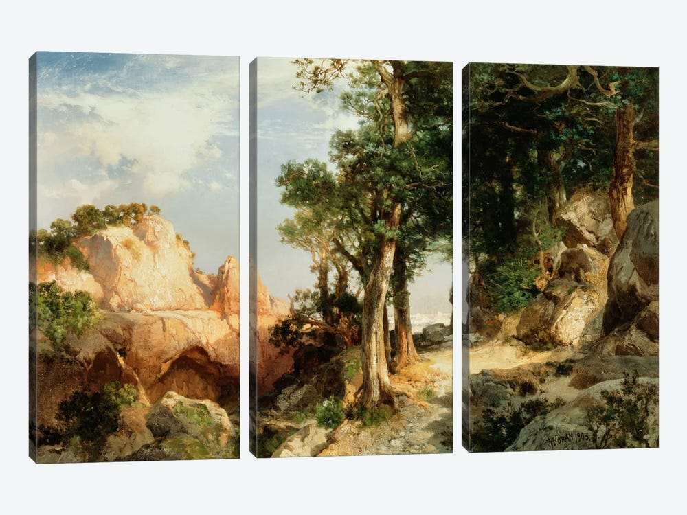 On the Berry Trail - Grand Canyon of Arizona, 1903 by Thomas Moran 3-piece Canvas Art Print