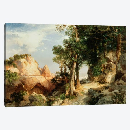 On the Berry Trail - Grand Canyon of Arizona, 1903  Canvas Print #BMN6020} by Thomas Moran Canvas Art Print