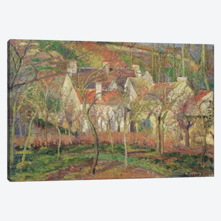 The Red Roofs, or Corner of a Village, Winter, 1877  Canvas Print #BMN602} by Camille Pissarro Canvas Wall Art
