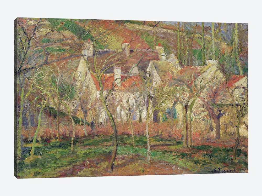 The Red Roofs, or Corner of a Village, Winter, 1877  by Camille Pissarro 1-piece Art Print